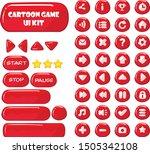 cartoon game ui toolkit   red...