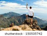 trail runner  man and success... | Shutterstock . vector #150535742