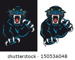 black panther attack isolated... | Shutterstock .eps vector #150536048