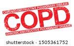 copd. chronic obstructive... | Shutterstock .eps vector #1505361752