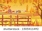 landscapes of countryside in... | Shutterstock .eps vector #1505411492