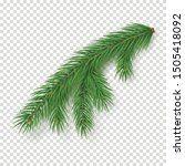 realistic branch of christmas... | Shutterstock .eps vector #1505418092