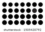 set of various stickers. black... | Shutterstock .eps vector #1505420792