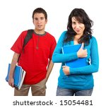 two students with books and... | Shutterstock . vector #15054481