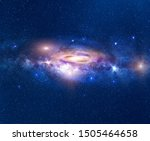 Galaxy In Deep Space With Milky ...