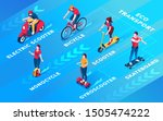 set of isolated people on... | Shutterstock .eps vector #1505474222