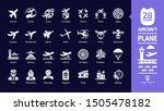 aircraft icon set in dark mode...   Shutterstock .eps vector #1505478182