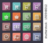 shopping icon set. flaticons... | Shutterstock .eps vector #150548012