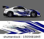 car wrap decal graphics.... | Shutterstock .eps vector #1505481845