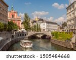 "the famous ""triple bridge"" on...   Shutterstock . vector #1505484668"