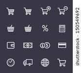 shopping icon set. icons for on ... | Shutterstock .eps vector #150549692