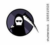 grim reaper logo  death scythe... | Shutterstock .eps vector #1505515535