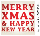 merry christmas greeting card... | Shutterstock .eps vector #150551906