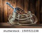 Burlap Bag With Metalic Scoop...