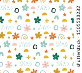 cute simple pattern with... | Shutterstock .eps vector #1505533232