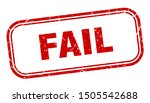 fail stamp. fail square grunge... | Shutterstock .eps vector #1505542688