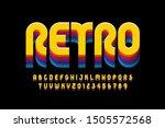 retro style font design ... | Shutterstock .eps vector #1505572568