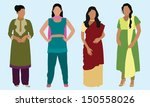 east indian women | Shutterstock .eps vector #150558026