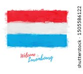 welcome to luxembourg banner.... | Shutterstock .eps vector #1505586122
