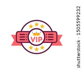 vip emblem line color icon.... | Shutterstock .eps vector #1505599232