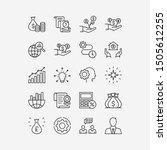 business icon set thin line... | Shutterstock .eps vector #1505612255