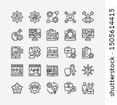 business people line icons set... | Shutterstock .eps vector #1505614415