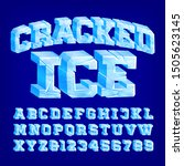 cracked ice alphabet font. 3d... | Shutterstock .eps vector #1505623145
