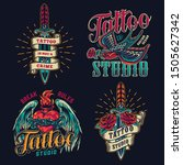 colorful tattoo studio vintage... | Shutterstock .eps vector #1505627342