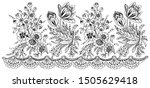 black and white lace  border... | Shutterstock . vector #1505629418