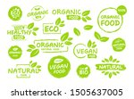 set of vegan  eco  bio  organic ... | Shutterstock .eps vector #1505637005
