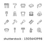 painter tools flat line icons... | Shutterstock .eps vector #1505643998