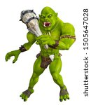 3d Rendering Fantasy Orc With...