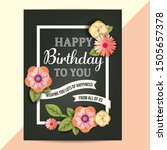 happy birthday card with...   Shutterstock .eps vector #1505657378
