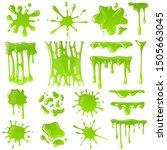 green slime. goo blob splashes  ... | Shutterstock .eps vector #1505663045