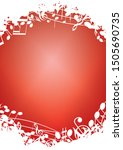 red vertical background a4 with ... | Shutterstock . vector #1505690735