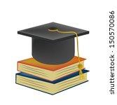 a black graduation hat standing ... | Shutterstock .eps vector #150570086