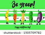 eggplant  celery  cucumber ... | Shutterstock .eps vector #1505709782