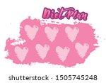 vector diet plan with hearts... | Shutterstock .eps vector #1505745248