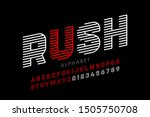 speed style linear font ... | Shutterstock .eps vector #1505750708