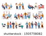 business meeting of... | Shutterstock .eps vector #1505758082