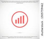 graph icon vector in trendy...