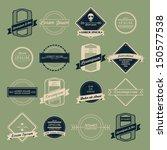 vintage logo vector set   Shutterstock .eps vector #150577538