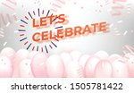 balloons with firecracker and... | Shutterstock .eps vector #1505781422