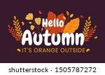 hello autumn. typography text... | Shutterstock .eps vector #1505787272
