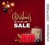 christmas sale banner with... | Shutterstock .eps vector #1505793602