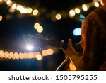 man play acoustic guitar at... | Shutterstock . vector #1505795255
