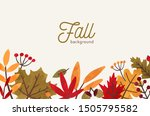 fall hand drawn vector... | Shutterstock .eps vector #1505795582
