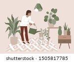 vector illustration in flat... | Shutterstock .eps vector #1505817785