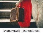 Vintage Chinese Woman Traveler...