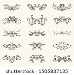 vector set of decorative... | Shutterstock .eps vector #1505837135
